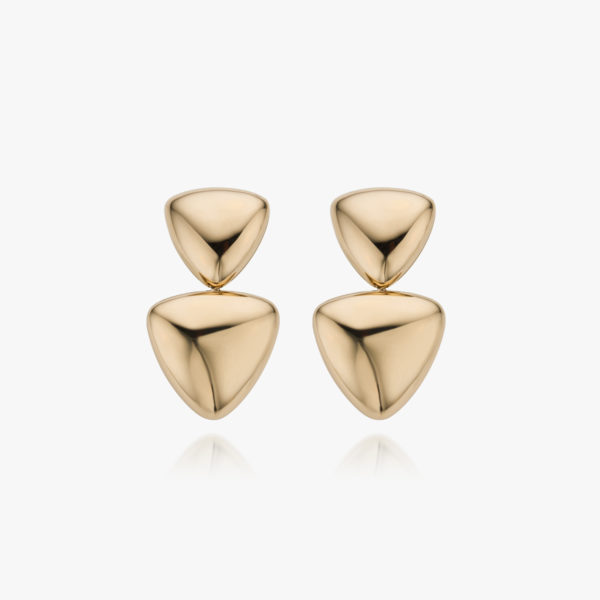 Rose gold earrings ((Freccia))