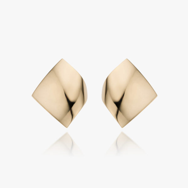 Rose gold earrings ((Kiss))