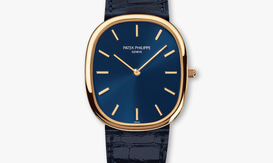 Montre Patek Philippe Golden Ellipse 3738 100 J 012 Or Jaune Bleu Maison De Greef 1848