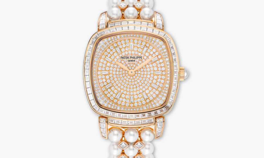 Montre Patek Philippe Gondolo Haute Joaillerie 7042 100 R 010 Or Rose Diamants Perles Maison De Greef 1848