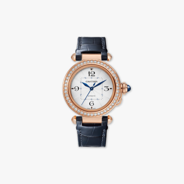 Pasha de Cartier in rose gold set with brilliants