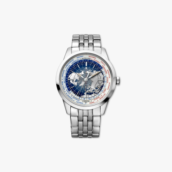 Automatic, stainless steel watch Universal Time