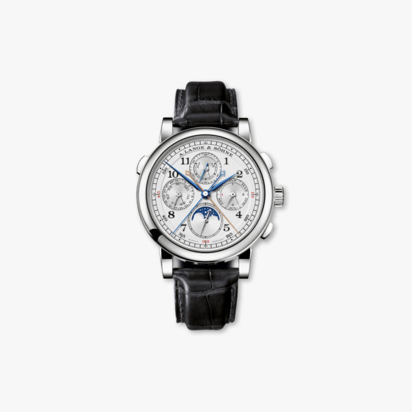 Manual winding, platinum watch Rattrapante Perpetual Calendar