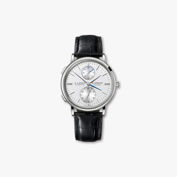 Saxonia Dual Time in white gold