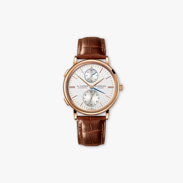 Montre A Lange Sohne Saxonia Double Fuseau Horaire 386 032 Or Rose Maison De Greef 1848