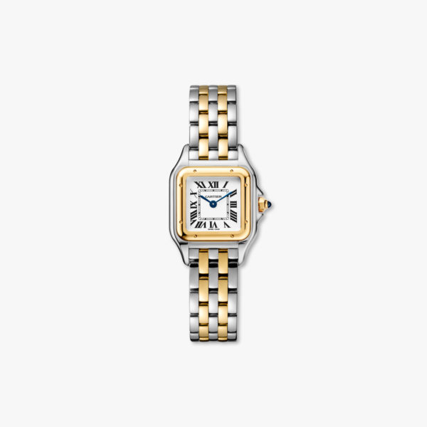 Quartz watch, small model, yellow gold and stainless steel