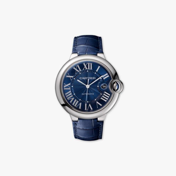 Montre Cartier Ballon Bleu Grand Modele Wsbb0025 Acier Bleu Cuir Maison De Greef 1848