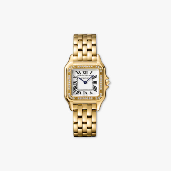 Panthère de Cartier Medium Model in geel goud gezet met diamanten