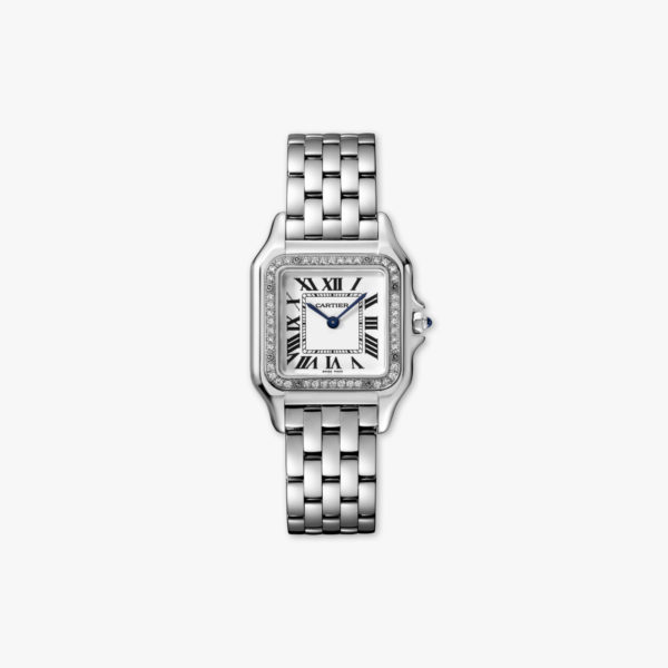Montre Cartier Panthere De Cartier Moyen Modele W4 Pn0008 Acier Diamants Maison De Greef 1848