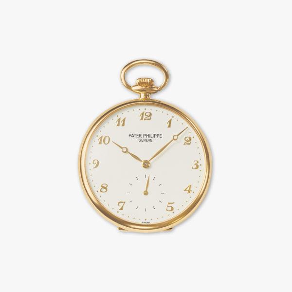 Montre De Poche Patek Philippe Chiffres Breguet 973 J 001 Or Jaune Maison De Greef 1848