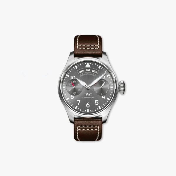 Aviator watch Annual Calendar, Automatic, stainless steel