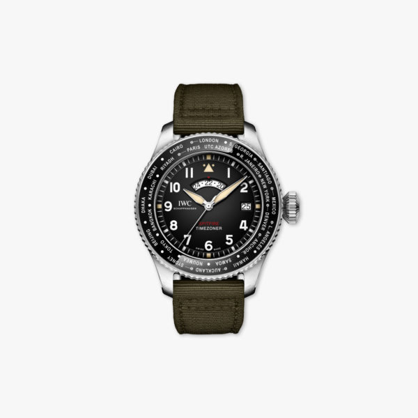 Montre Iwc Pilots Watch Timezoner Spitfire Edition The Longest Flight Edition Limitee Iw395501 Acier Noir Maison De Greef 1848