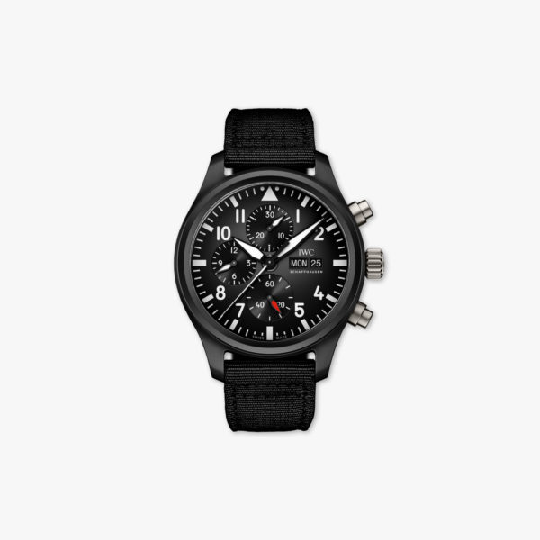 Montre Iwc Pilots Watches Chronographe Top Gun Iw389101 Ceramique Noire Maison De Greef 1848