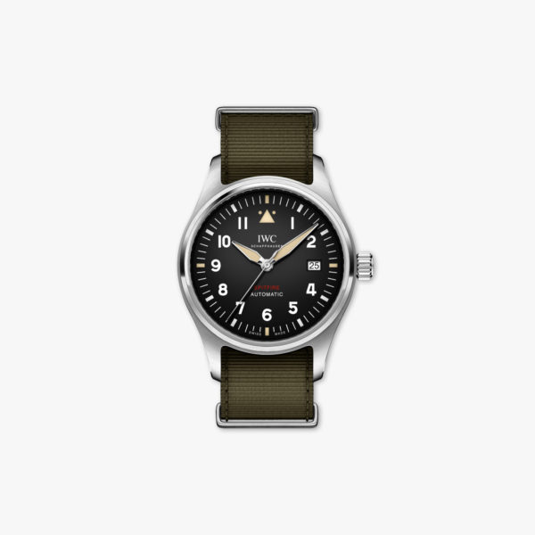 Montre Iwc Pilots Watches Spitfire Automatic Iw326801 Acier Noir Maison De Greef 1848