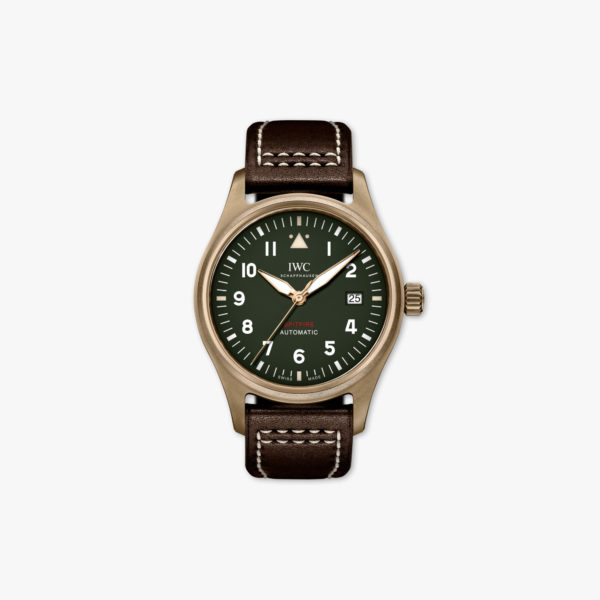 Montre Iwc Pilots Watches Spitfire Automatic Iw326802 Bronze Vert Maison De Greef 1848