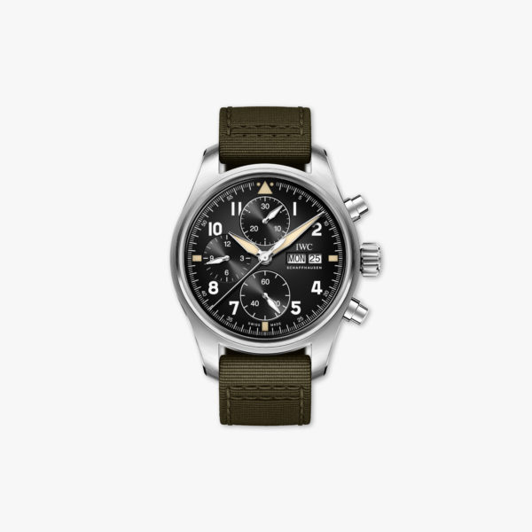 Montre Iwc Pilots Watches Spitfire Chronographe Iw387901 Acier Noir Maison De Greef 1848