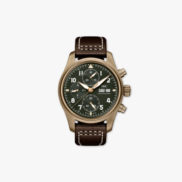 Montre Iwc Pilots Watches Spitfire Chronographe Iw387902 Bronze Vert Maison De Greef 1848