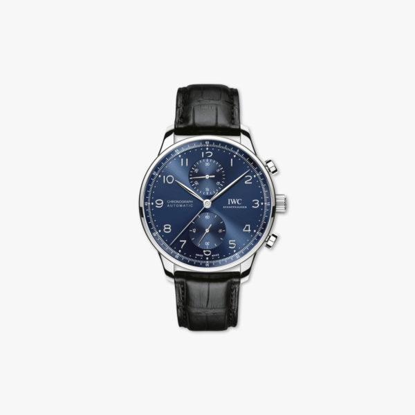 Montre Iwc Portugieser Chronographe Iw371491 Acier Bleu Maison De Greef 1848