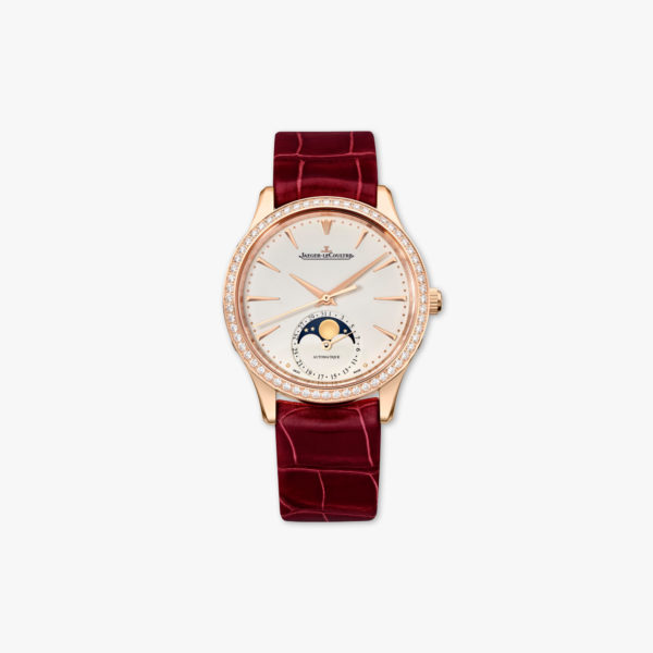 Montre Jaeger Lecoultre Master Ultra Thin Moon Dame Q1252501 Or Rose Diamants Maison De Greef 1848