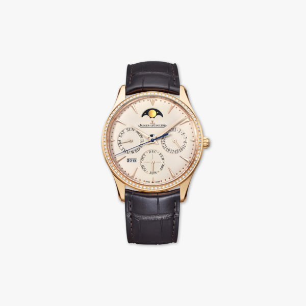 Montre Jaeger Lecoultre Master Ultra Thin Perpetual Q1302501 Or Rose Diamants Maison De Greef 1848