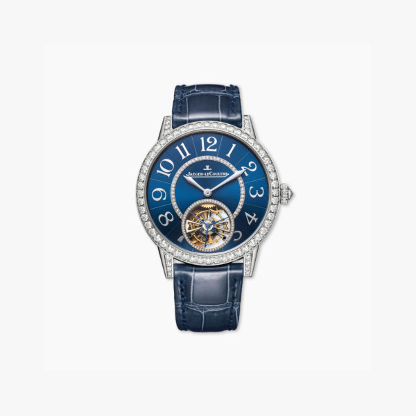 Montre Jaeger Lecoultre Rendez Vous Tourbillon Q3413480 Or Blanc Diamants Bleu Maison De Greef 1848
