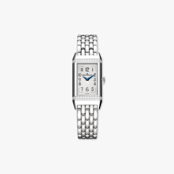 Reverso One in stainless steel, set with diamonds