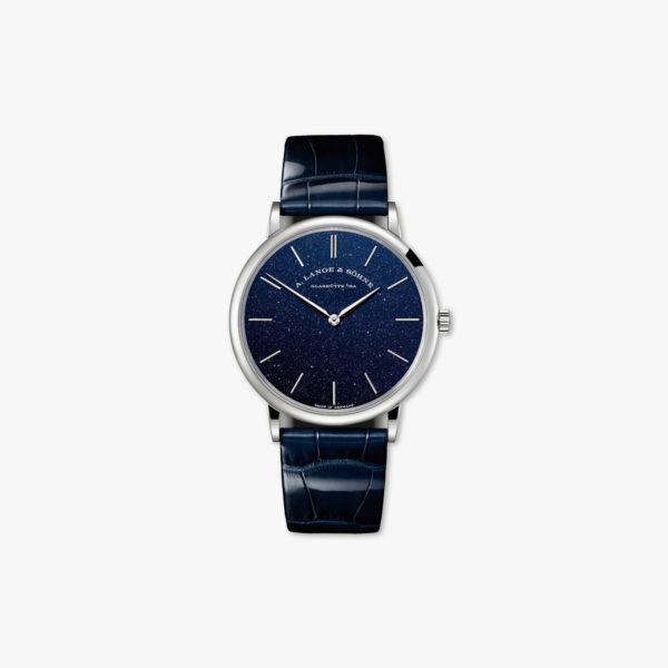 Montre Lange Sohne Saxonia Thin 205 086 Or Rose Bleu Maison De Greef 1848