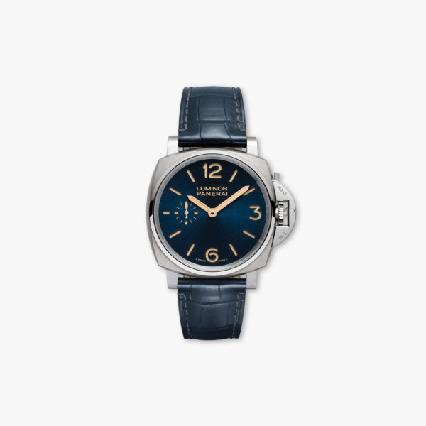 Montre Panerai Luminor Due 3 Days Titanio 42Mm Pam00728 Titane Bleu Maison De Greef 1848