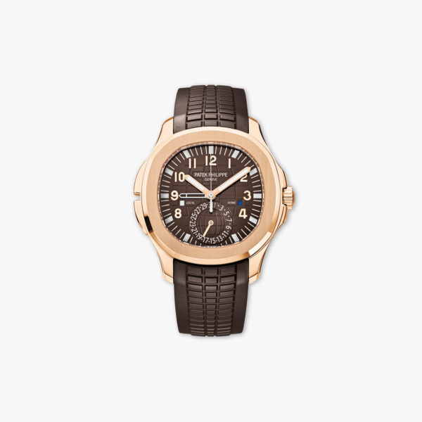 Montre Patek Philippe Aquanaut Dual Time 5164 R 001 Or Rose Caoutchouc Maison De Greef 1848