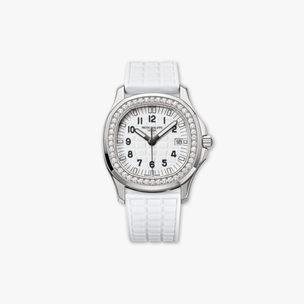 Montre Patek Philippe Aquanaut Ladies Blanc 5067 A 024 Acier Diamants Maison De Greef 1848