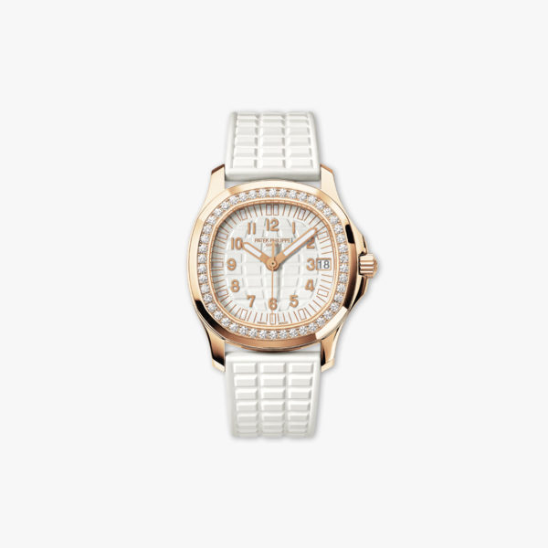 Montre Patek Philippe Aquanaut Ladies Blanc 5068 R 010 Or Rose Diamants Maison De Greef 1848