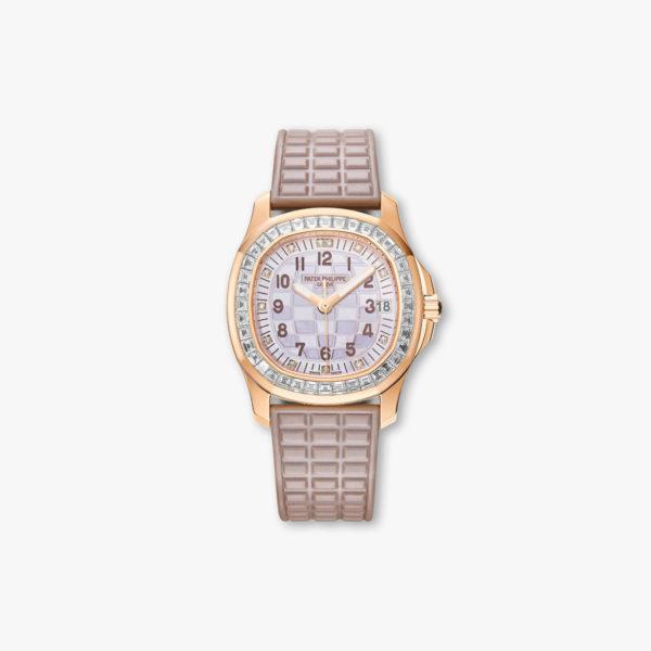 Montre Patek Philippe Aquanaut Luce Haute Joaillerie 5072 R 001 Or Rose Diamants Nacre Maison De Greef 1848