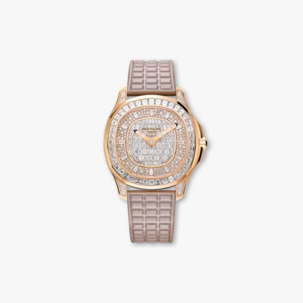 Diamond-set watch, automatic, rose gold