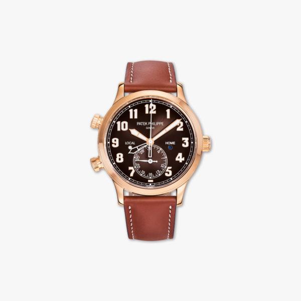 Montre Patek Philippe Calantrava Pilot Travel Time 5524 R 001 Or Rose Maison De Greef 1848