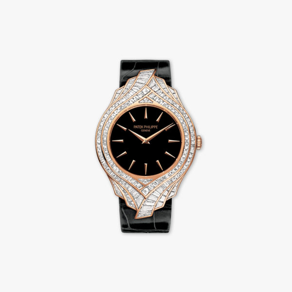 Montre Patek Philippe Calatrava Haute Joaillerie 4895 R 001 Or Rose Diamants Baguettes Maison De Greef 1848