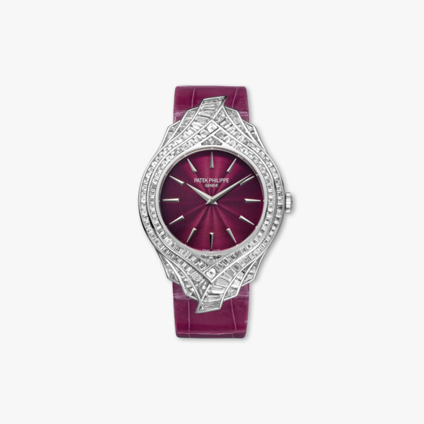 Montre Patek Philippe Calatrava Ladies Haute Joaillerie 4895 G 001 Or Blanc Diamants Baguettes Maison De Greef 1848