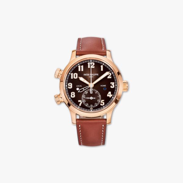 Montre Patek Philippe Calatrava Pilot Travel Time Ladies 7234 R 001 Or Rose Maison De Greef 1848