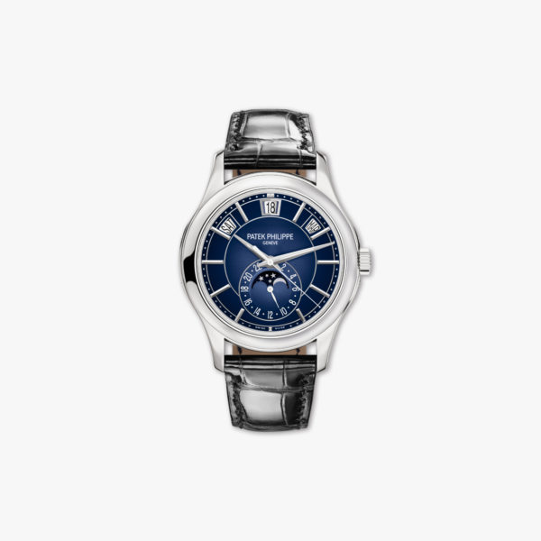 Montre Patek Philippe Complications Calendrier Annuel 5205 G 013 Or Blanc Bleu Maison De Greef 1848