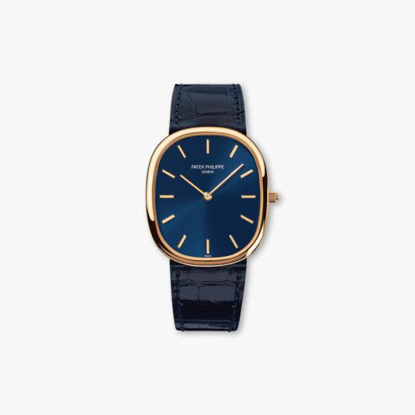 Montre Patek Philippe Golden Ellipse 3738 100 J 012 Or Jaune Bleu Maison De Greef 1848