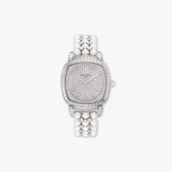 Montre Patek Philippe Gondolo Haute Joaillerie 7042 100 G 010 Or Blanc Diamants Perles Maison De Greef 1848