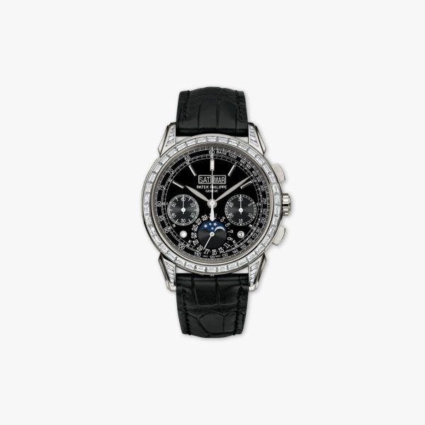 Grand Complications Perpetual Calendar Chronograph in platinum, set with diamonds