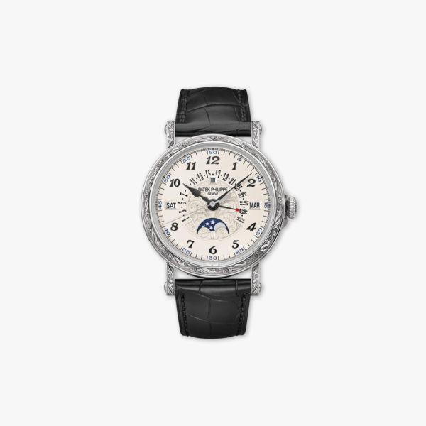 Montre Patek Philippe Grand Complications Perpetual Calendar Engraved 5160 500 G 001 Or Blanc Maison De Greef 1848