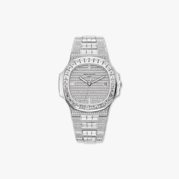 Montre Patek Philippe Nautilus Haute Joaillerie 5719 10 G 010 Or Blanc Diamants Baguettes Brillants Maison De Greef 1848