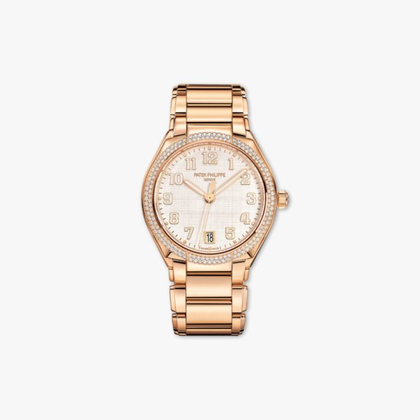 Montre Patek Philippe Twenty 4 7300 1200 R 010 Or Rose Diamants Soie Beige Maison De Greef 1848