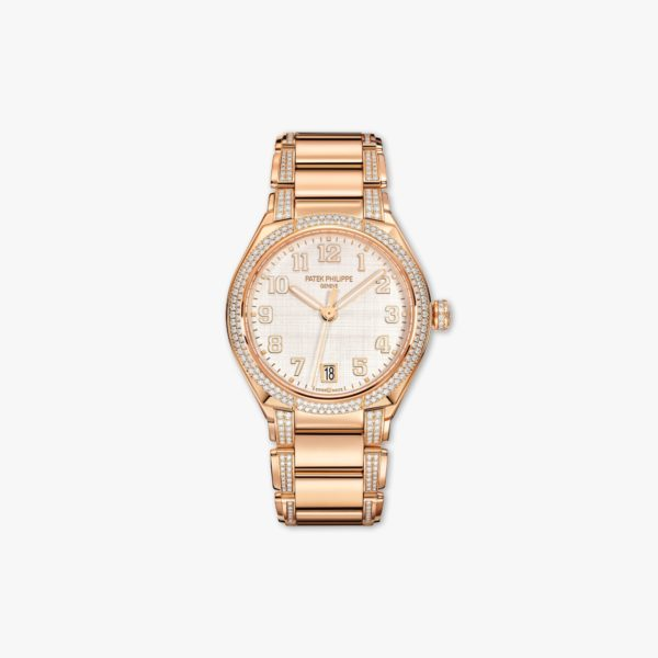 Montre Patek Philippe Twenty 4 7300 1201 R 001 Or Rose Diamants Soie Beige Maison De Greef 1848