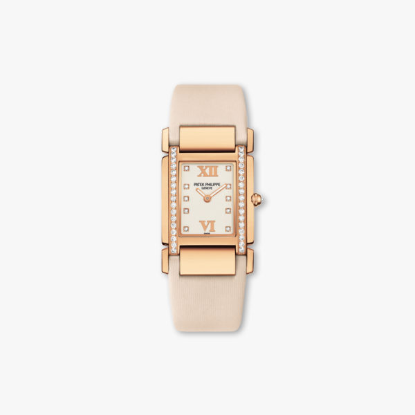 Twenty-4 in rose gold, set with diamonds