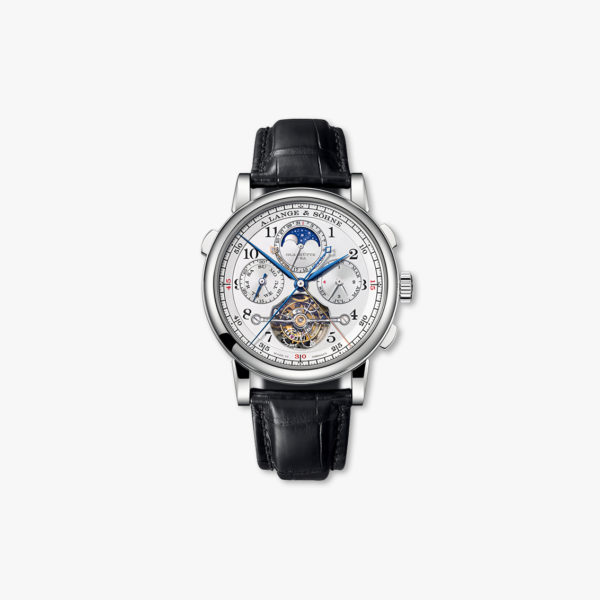 Manual winding, platinum watch Perpetual Tourbograph