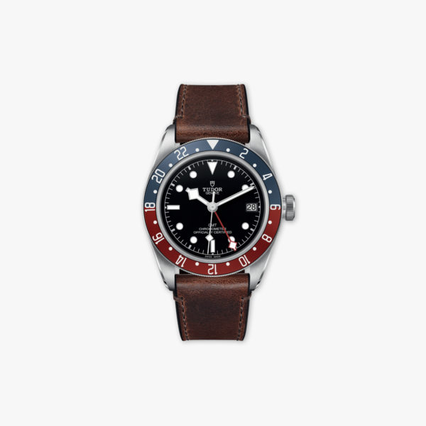 Montre Tudor Heritage Black Bay Gmt M79830 Rb 0002 Acier Cuir Rouge Bleu Maison De Greef 1848