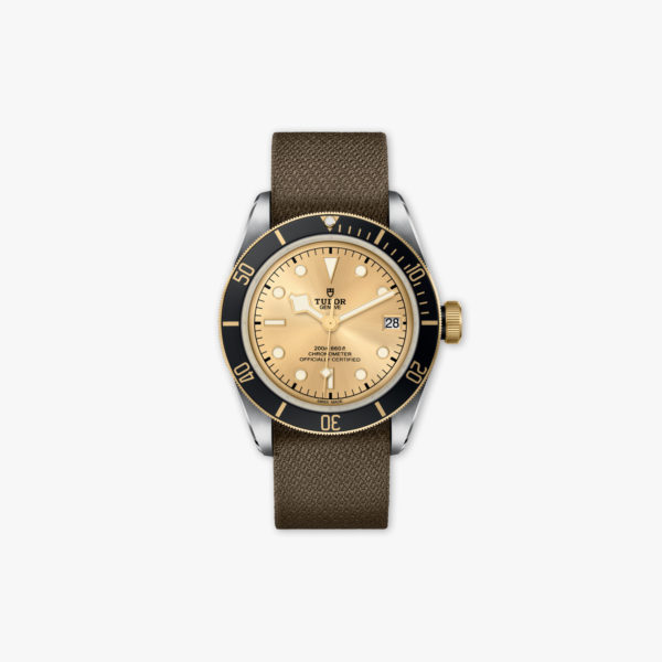 Montre Tudor Heritage Black Bay Steel Gold M79733 N 0006 Acier Or Jaune Tissu Maison De Greef 1848