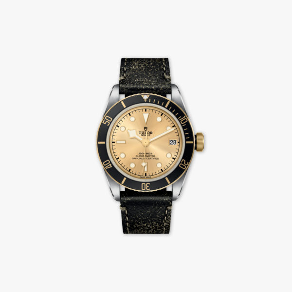 Montre Tudor Heritage Black Blay Steel Gold M79733 N 0003 Acier Or Jaune Cuir Maison De Greef 1848